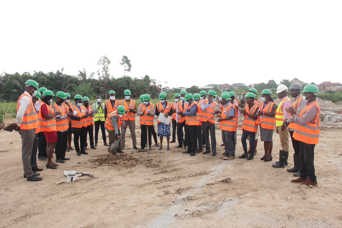 Vice-Chancellor Cuts Sod for the Construction of a Five -Storey Block at Adako Jachie