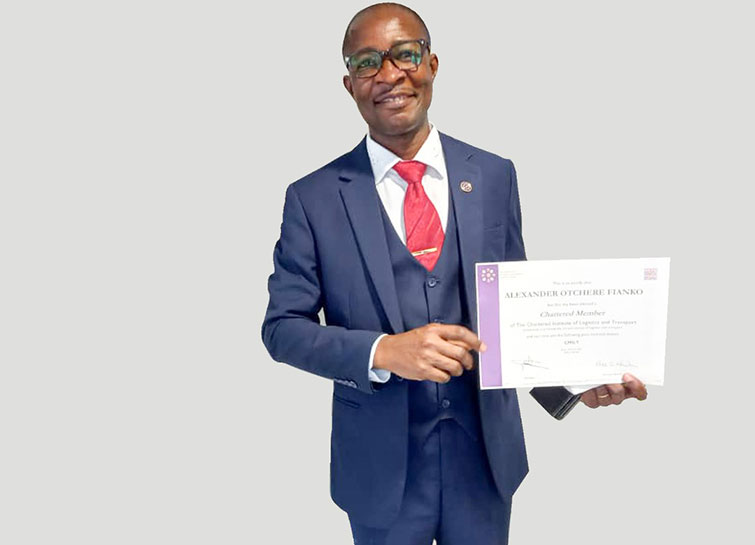 Up-Close with Dr. Alexander Otchere Fianko the chartered member of CILT