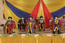 Picture: A section of the University Council members and some dignitaries at the 16th Congregation.